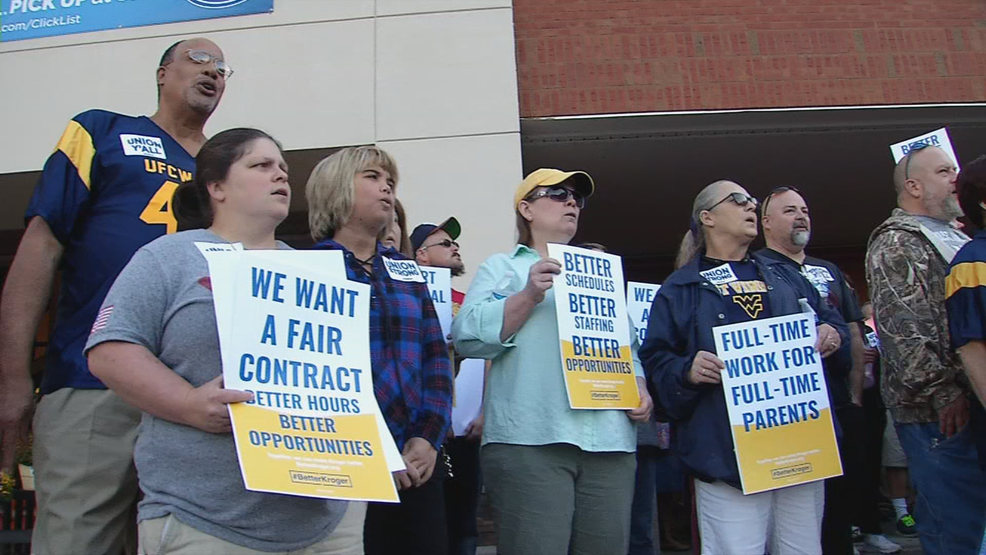 Local Kroger employees looking for new contract protest outside