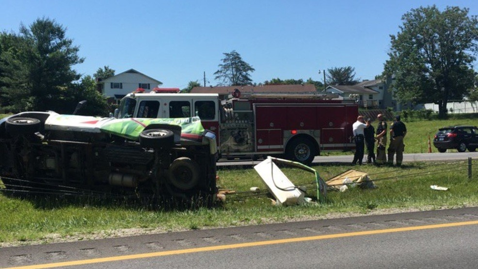 Eastbound lanes of I-64 closed following accident near