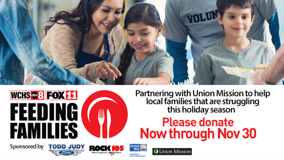 WCHS/FOX11 is partnering with Union Mission in Charleston and sponsors Todd Judy Ford and Rock 105 on the Feeding Families drive, so needy families in the area will have food on their tables. (WCHS/WVAH)<p>{/p}