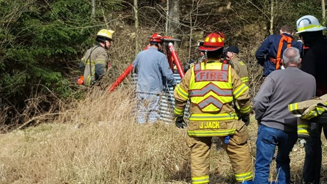 Emergency crews rescue man stuck in drain pipe in Pinch area